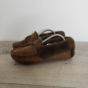 L.L. Bean Wicked Good Moccasins Slipper Shearling